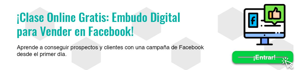 Clase Online Embudos de venta en Facebook